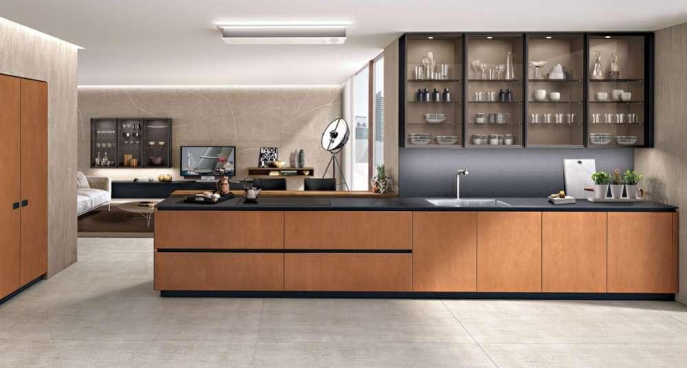 Cucina Antis by Euromobil Armonia e calore di forme e colori
